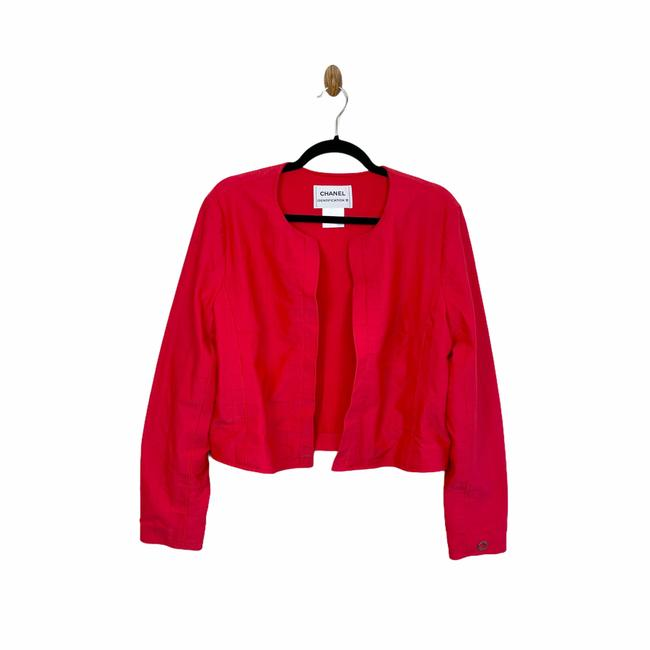 Item - Red Identification C.2000 Quilted Padded Open Jacket Size 8 (M)