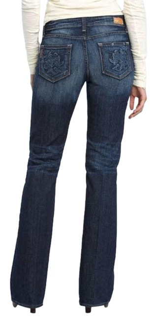 Item - Blue Medium Wash Hollywood Hills Embroidered Boot Cut Jeans Size 28 (4, S)