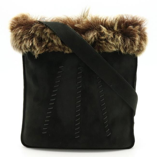 Item - Sack To Do Pochette Black / Brown / Multi-color Suede / Fur Shoulder Bag