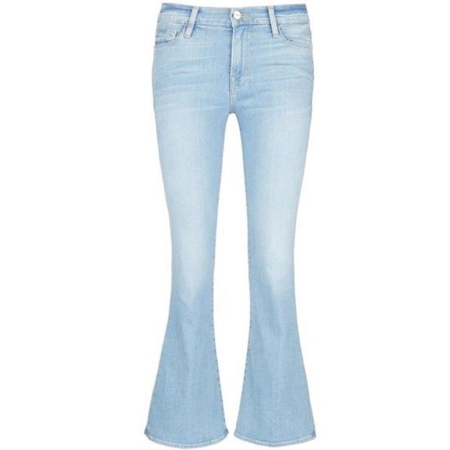 Item - Blue Light Wash Inez Whiskered Seaguest Flare Leg Jeans Size 10 (M, 31)