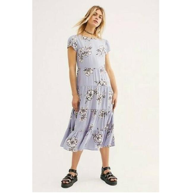 Item - Lavender Rita Tiered Midi Floral Printed Summer Mid-length Casual Maxi Dress Size 6 (S)