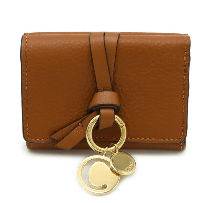 Chloé Brown W Chloé Alphabet Hook Tri-fold Compact Leather Chc16ap709h9q25h Wallet Chloé Brown W Chloé Alphabet Hook Tri-fold Compact Leather Chc16ap709h9q25h Wallet Image 1