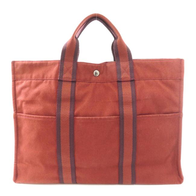 Item - Bag Sack Fool Toe Mm Ladies Red Color Canvas Tote