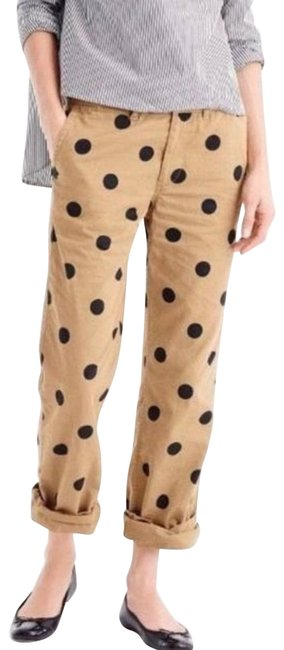 Item - Tan Boyfriend Chino Straight Leg Dots Activewear Bottoms Size 6 (S, 28)
