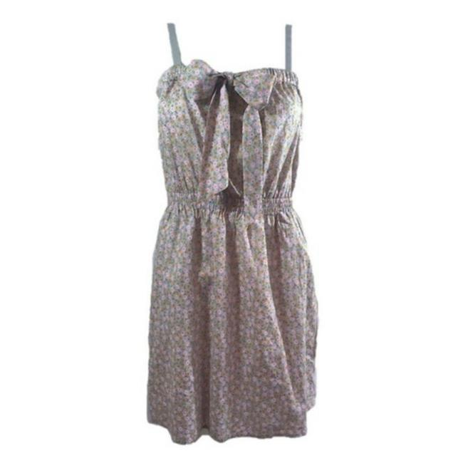 Item - Gray Pink New S Floral Sundress Mid-length Short Casual Dress Size 6 (S)