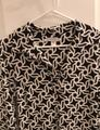 Maggy London Black and White Geometric Print Mid-length Short Casual Dress Size 12 (L) Maggy London Black and White Geometric Print Mid-length Short Casual Dress Size 12 (L) Image 3