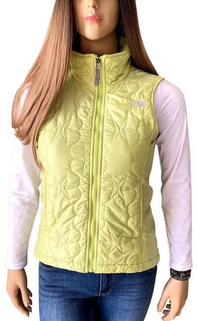 Item - Yellow-green Quilted Puffer Jacket Vest Size 4 (S)
