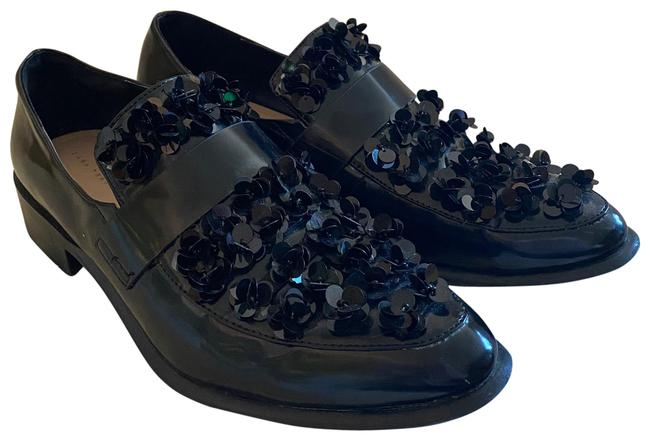 Item - Black Women's Sequin Loafers with Floral Detail Flats Size EU 41 (Approx. US 11) Regular (M, B)