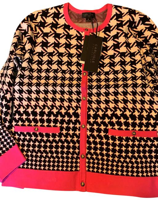 Item - Multi Color( Black Pink and White) Cardigan Size 4 (S)