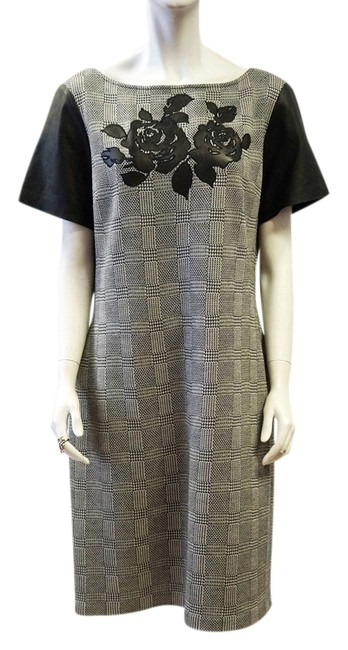 Preload https://item4.tradesy.com/images/st-john-black-white-caviar-linen-rose-leather-herringbone-knee-length-workoffice-dress-size-16-xl-pl-2851798-0-0.jpg?width=400&height=650