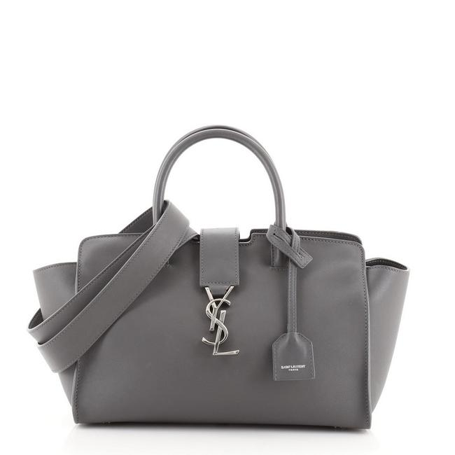 Item - Monogram Cabas Downtown Baby Gray Leather Satchel