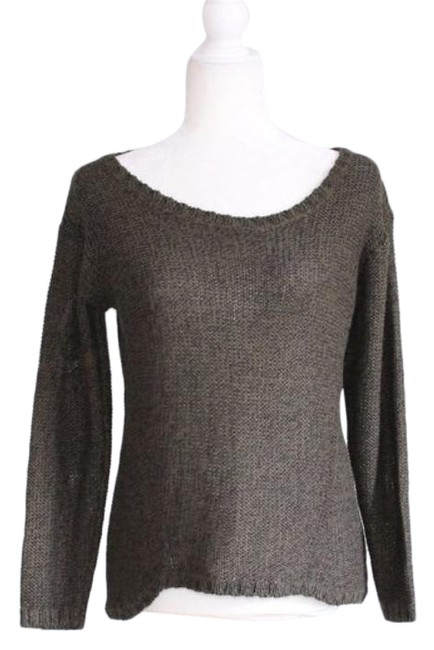 Item - Women's Size Small Knit Elbow Patches Olive Green Sweater