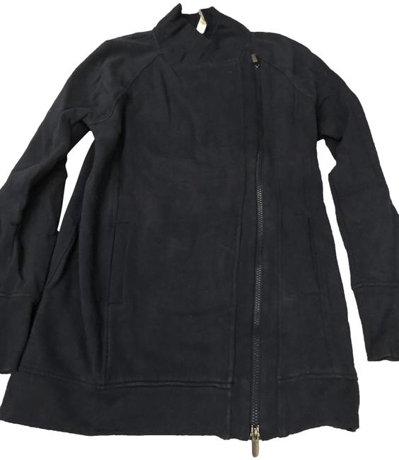 Item - Navy Zip Up Activewear Outerwear Size 4 (S)