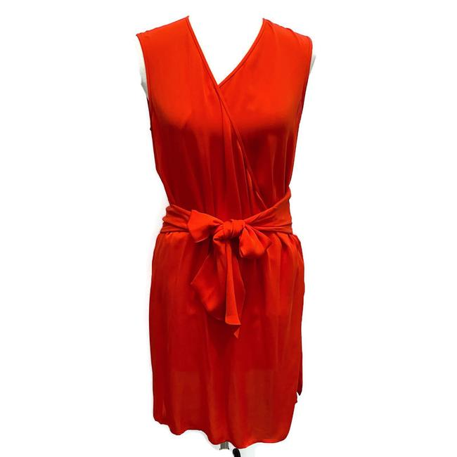 Diane von Furstenberg Red Faux Wrap Short Night Out Dress Size 4 (S) Diane von Furstenberg Red Faux Wrap Short Night Out Dress Size 4 (S) Image 1