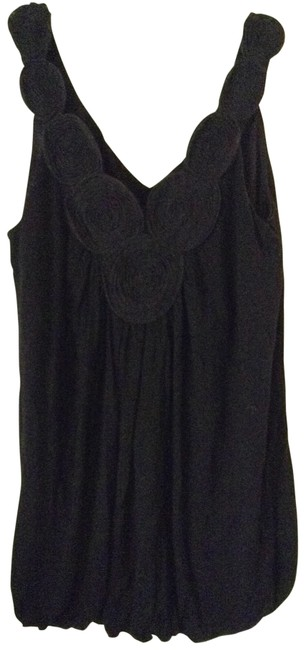 Other Pretty Good Accented Neckline Top black