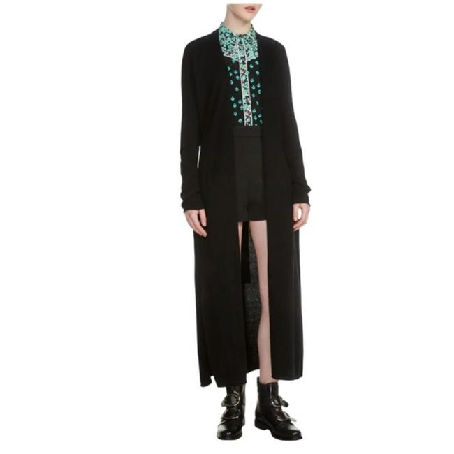 Item - Black Marina Wool Long Tie Front Duster Cardigan Sweater Jacket Size 4 (S)