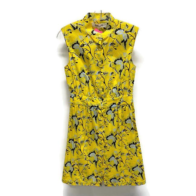 Item - Yellow Floral Short Casual Dress Size 0 (XS)