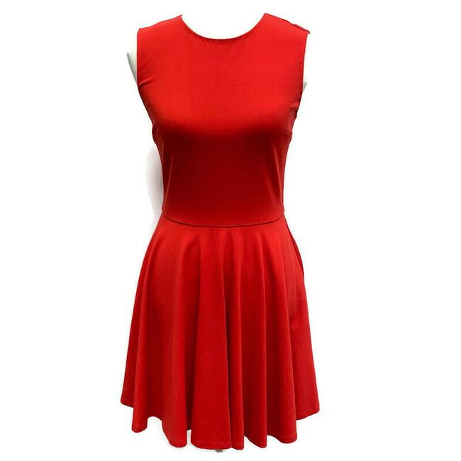 Item - Red Skater Short Casual Dress Size 4 (S)