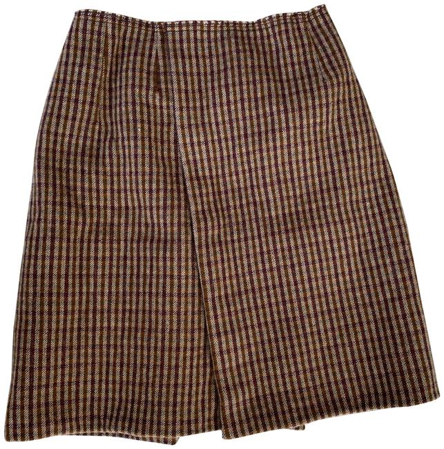Item - Brown XS Virgin Wool Houndstooth Wool Wrap It 38 S Skirt Size 0 (XS, 25)