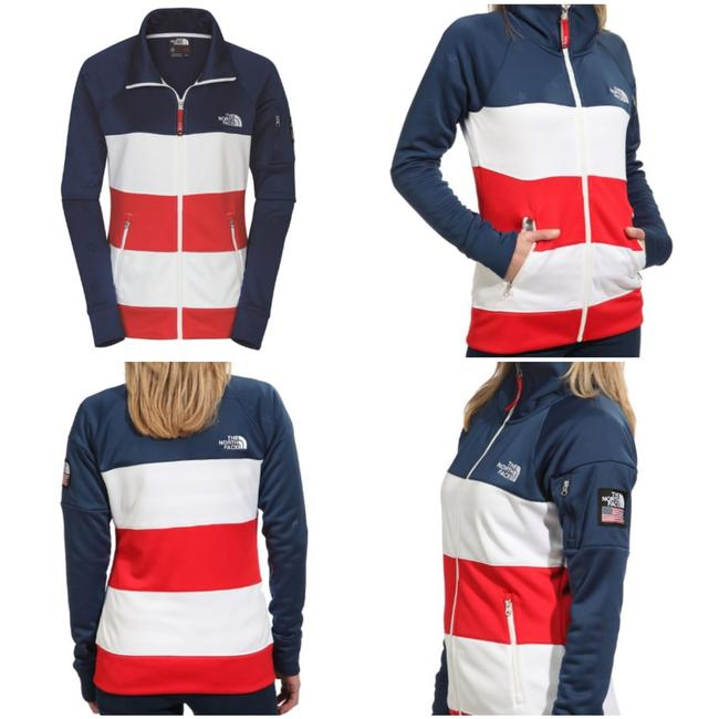 Item - Red White Blue Ru/14 Olympic Village Cadet Jacket Activewear Size 8 (M)