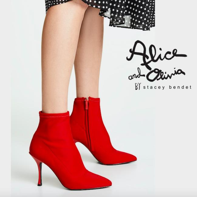 Item - Red Pointed Toe Ankle Zip Eu 36 Boots/Booties Size US 6 Regular (M, B)