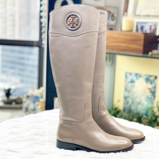 Item - Gray Ashlynn Logo Knee High Riding Porcini Leather Boots/Booties Size US 5.5 Regular (M, B)