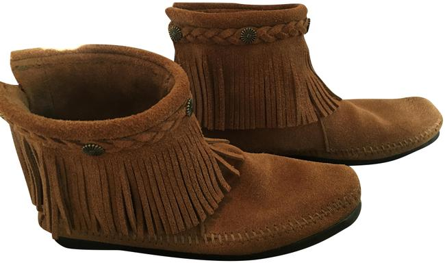 Item - Dusty Brown High Top Back Zip Boots/Booties Size US 7 Regular (M, B)