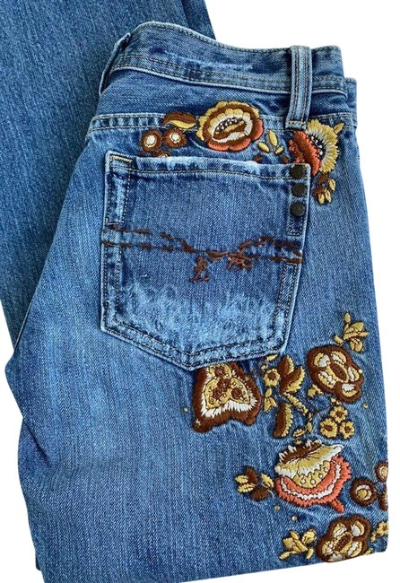 Item - Blue Medium Wash Me*embroidered*jeans*27 Straight Leg Jeans Size 27 (4, S)