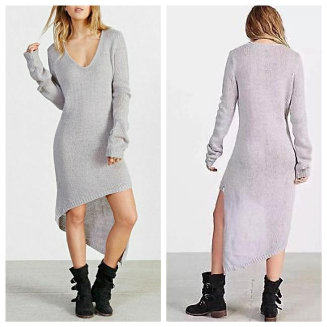 Item - Gray Sweater Mid-length Short Casual Dress Size 8 (M)