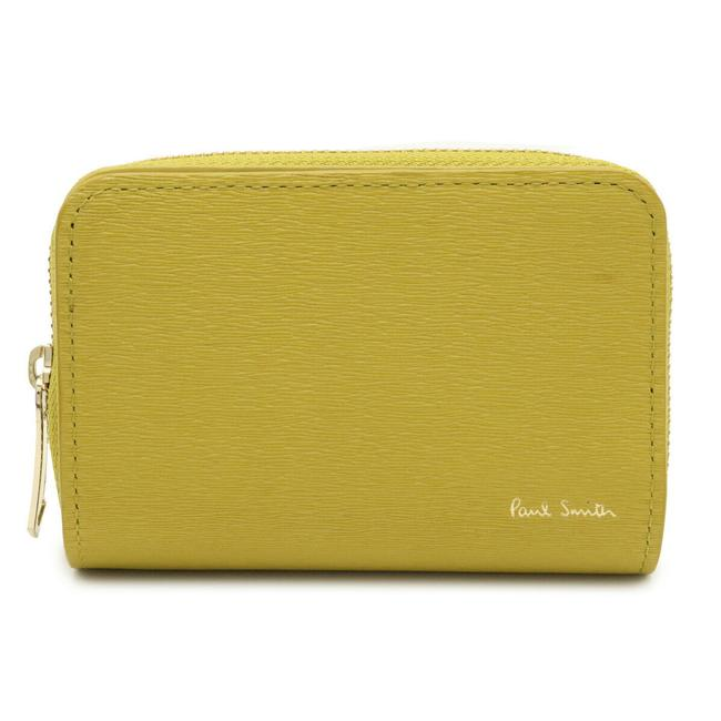 Item - Mustard / Yellow Coin Purse Round Zipper 4 Key Case Leather Psq012 Wallet