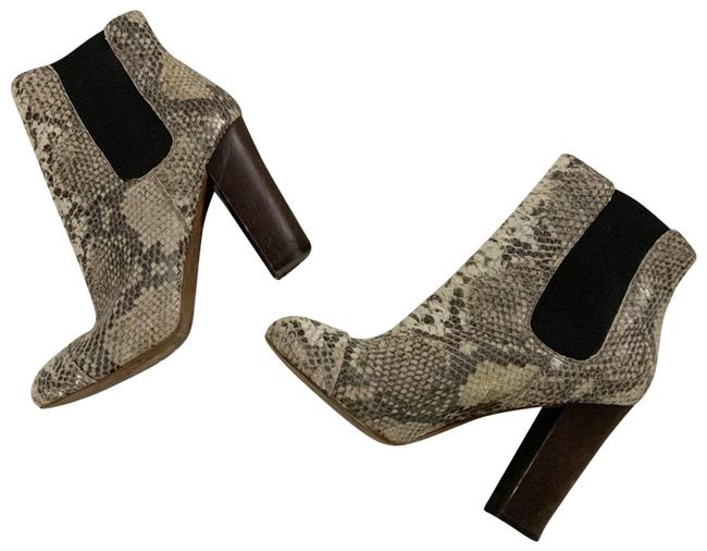 Item - Silver 6m Snakeskin Boots/Booties Size US 6 Regular (M, B)