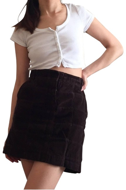 Item - Brown Corduroy Patchwork Western Skirt Size 4 (S, 27)