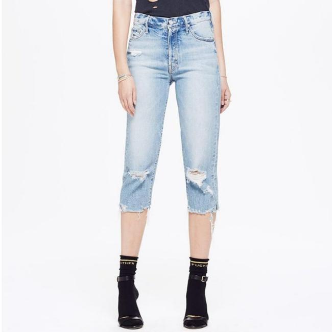 Item - Blue Distressed The Almost Saint Capri/Cropped Jeans Size 26 (2, XS)