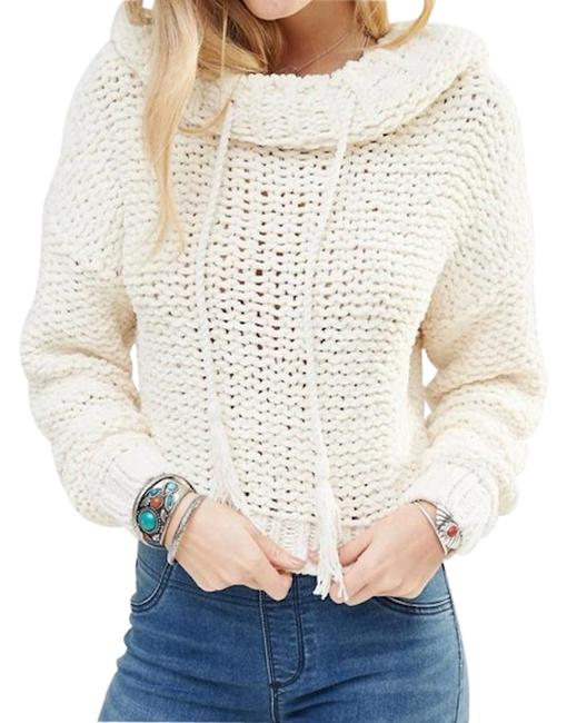 Item - Anemone Beach Hoodie Chunky Knit Ivory Sweater