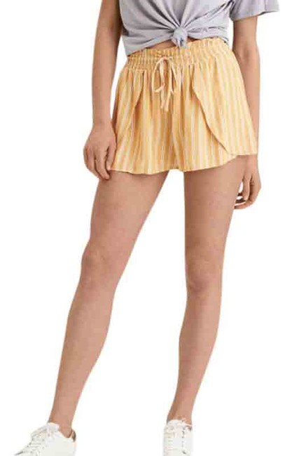 Item - Yellow Striped Elastic Shorts Size 8 (M, 29, 30)