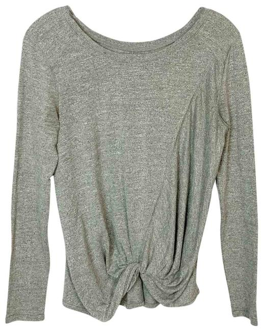 Item - Gray | Knot Front Athletic Activewear Top Size 2 (XS)