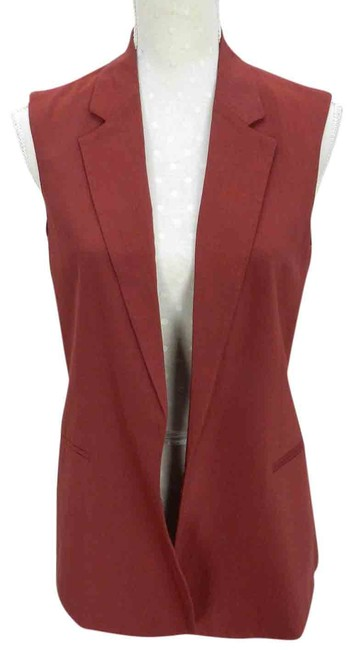 Item - Red Adar Season Beetroot Wool Casual Vest Size 8 (M)