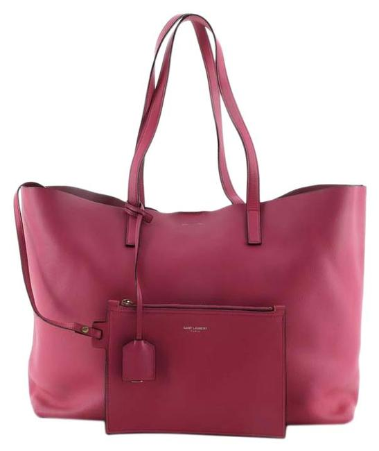 Item - Shopper Large Pink Leather Tote