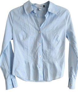 Banana Republic Button Down Shirt PXS Pintucked Sky
