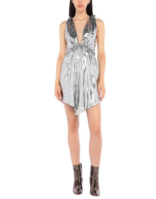Item - Silver Metallic 36 French Vneck and Vback Night Out Dress Size 6 (S)