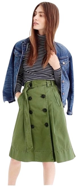 Item - Green Chino Trench Skirt Size 2 (XS, 26)
