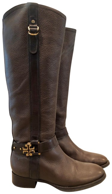 Item - Brown 'elina' Coconut Riding Boots/Booties Size US 7 Regular (M, B)