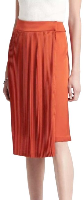 Item - Orange Palermo X Olivia Pleated Skirt Size 10 (M, 31)
