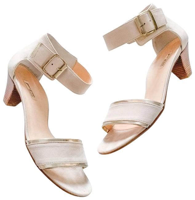 Paul Green Cream Violet In Natural Sandals Size US 9 Regular (M, B) Paul Green Cream Violet In Natural Sandals Size US 9 Regular (M, B) Image 1