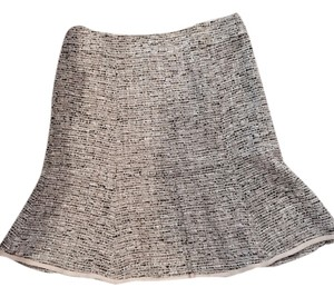 Nanette Lepore Skirt Beige and black tweed