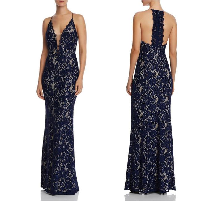 Item - Lace V-neck Mermaid Gown Long Cocktail Dress Size 2 (XS)