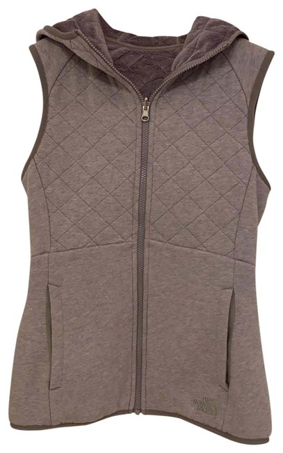 Item - Gray Quilted Reversible Hooded Vest Size 0 (XS)