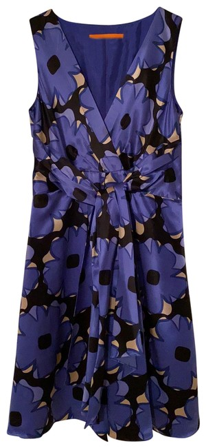 Item - Blue Sleeveless Mid-length Night Out Dress Size 4 (S)