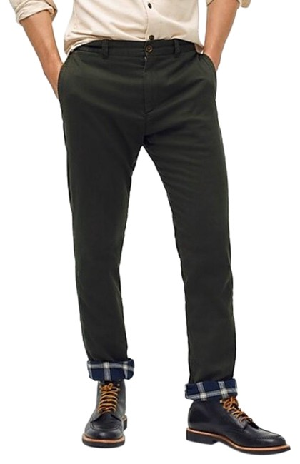Item - Forest Green W Flannel Lined Chino 38x32 New Tag Pants Size 14 (L, 34)