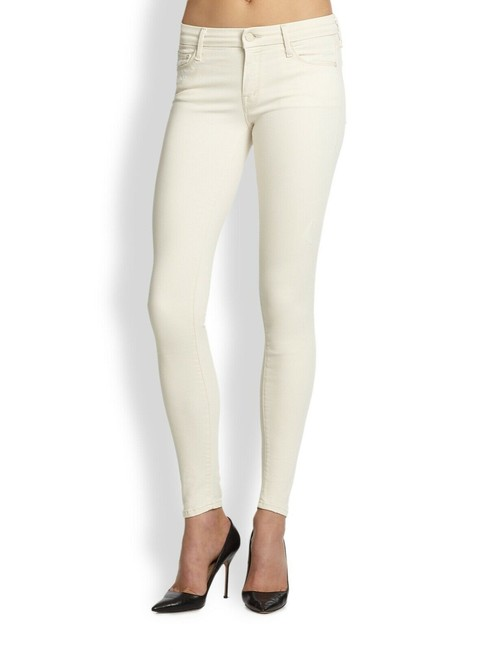Item - White Light Wash Stretchy Skinny Jeans Size 24 (0, XS)
